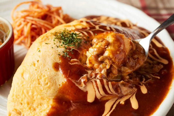 水戸で人気のオムライスが美味しい洋食屋「洋食屋 花きゃべつ」。創業40年以上の老舗の味をお楽しみあれ