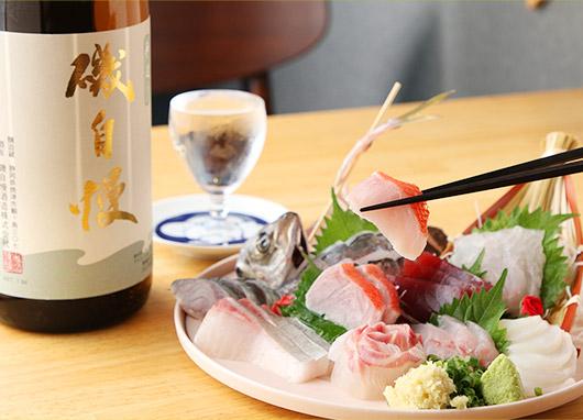 刺身+日本酒