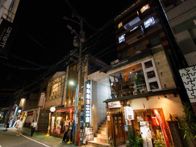 福岡市中央区大名、天神駅から歩いてすぐのダイニングバー「cafe&bar midium(ミディアム)大名」。夜景を眺めながら、デートや女子会、パーティーが出来るお店。