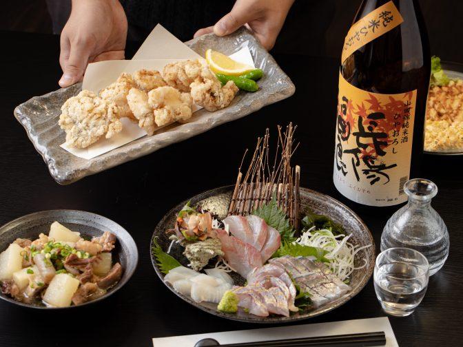 萩市内・東萩駅周辺にある居酒屋「酒場 肴(さかば さかな)」さんのクチコミレポート。四季折々の美味しい和食と日本酒が人気のお店